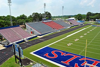 West Monroe High School - Image: Wmrebelstadium