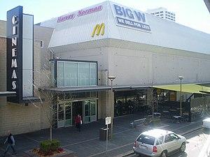 Westfield Woden - Viewed from Callam Street multi-storey carpark opposite cinema. In 2009