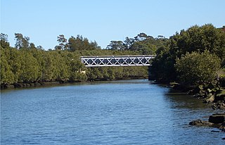 Wolli Creek Aqueduct sewerage aqueduct in Undercliffe, New South Wales, Australia