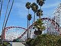 Wooden roller coaster, Santa Cruz, CA. (21553695082).jpg