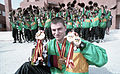 Xx0992 - Joseph Walker at Madrid Games with medals - 3b - Scan.jpg