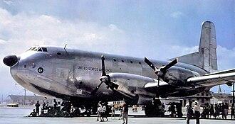 Douglas C-124 Globemaster II - The experimental YC-124B-DL powered by four Pratt & Whitney YT-34-P-6 turboprops.