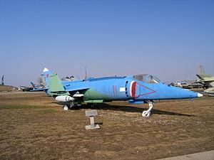 Yakovlev Yak-38 in Togliatti Technical Museum - 4151.JPG