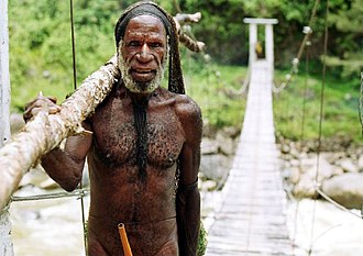 Baliem Valley - Yali tribesman in the Baliem Valley