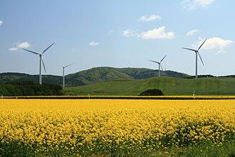 Yokohama, Aomori - Windpower farm in Yokohama