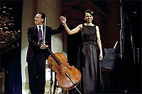 Duo avec Condoleezza Rice (sonate de Brahms).
