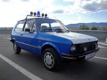A 1990 Yugo police car in Croatia