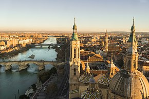 Zaragoza and Ebro view from the highest tower.jpg