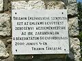Zebegény Országzászló emléktábla Trianon.JPG