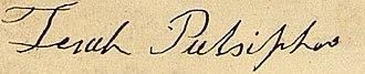 Zera Pulsipher - Image: Zerah Pulsipher Signature