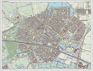 Zoetermeer - Dutch Topographic map of Zoetermeer, Sept. 2014
