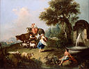 Zuccarelli, Francesco - Landscape with a Fountain, Figures and Animals - Google Art Project.jpg