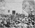 """Dedication ceremonies of Roosevelt Dam (Arizona Territory), Col. Roosevelt speaking, March 18, 1911."" By Lubkin - NARA - 531561.tif"