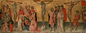 Martino di Bartolomeo - Crucifixion on panel,  ca. 1390 (Lindenau Museum, Altenburg, Germany).