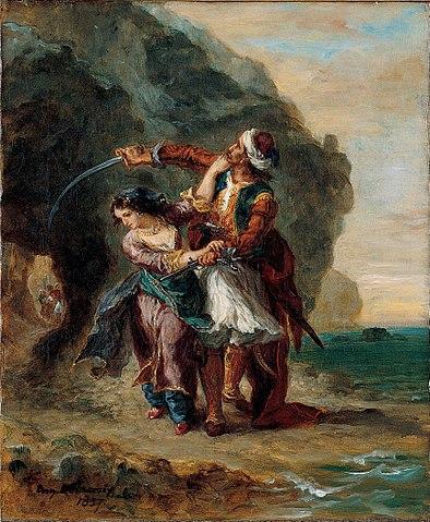 Иллюстрация Делакруа к одной из восточных поэм Байрона