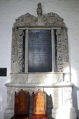 Thomas Barlow (bishop) - Monument to Thomas Barlow, St Mary's Church, Buckden, Cambridgeshire