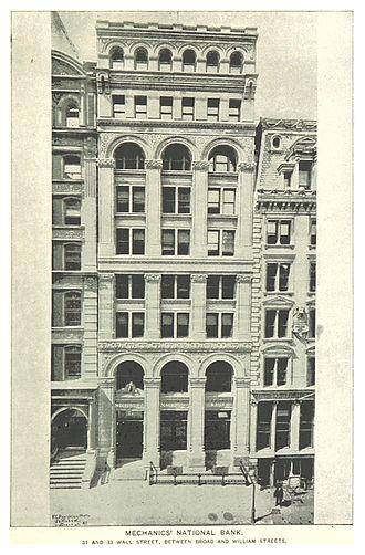 Mechanics and Metals National Bank - Wall Street office, Ca 1890