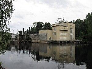 Kajaani - Ämmäkoski power plant on the river