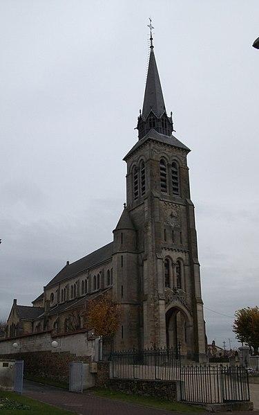 église Saint Memmie à Saint-Memmie, portail ouest.