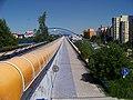 Černý Most, most metra, od Rajské zahrady.jpg