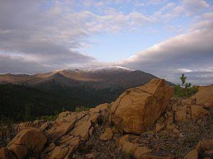 """Denezhkin Kamen Nature Reserve - Denezhkin Kamen (""""Denezhkin Stone Mountain"""")"""