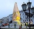 Памятник основателям Одессы перед открытием.jpg