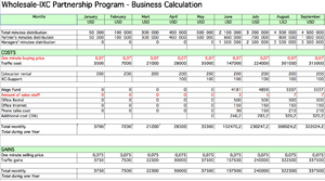 English: business plan