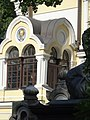 Фрагмент фасада церкви Святого Николая на Никольском кладбище Александро-Невской Лавры.jpg