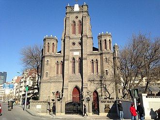 Tianjin - Church of Our Lady's Victories, built in 1869, was the site of the Tientsin Church Incident.
