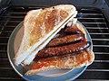 -2019-11-04 Chipolata sausage Sanwich, Sheringham.JPG