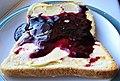 -2021-09-15 Blackberry & Apple jelly on toast, Trimingham, Norfolk.JPG