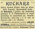 01905 Gazeta Sanocka 1905, Kucharz.jpg