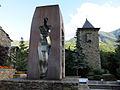 078 Homenatge a la Constitució i torre de la Casa de la Vall.JPG