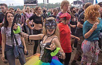 Music festival - Youth attend Przystanek Woodstock festival of rock music, Poland, 2016