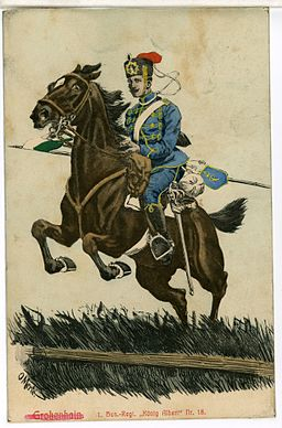08524-Großenhain-1907-1. Königlich Sächsisches Husaren-Regiment König Albert Nr. 18-Brück & Sohn Kunstverlag