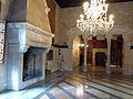 089 Castell de Santa Florentina (Canet de Mar), sala de la terrassa, al fons el menjador reial.JPG