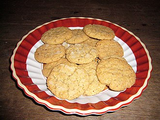 Oatmeal - Oatmeal cookies made with oatmeal, flour, sugar and butter