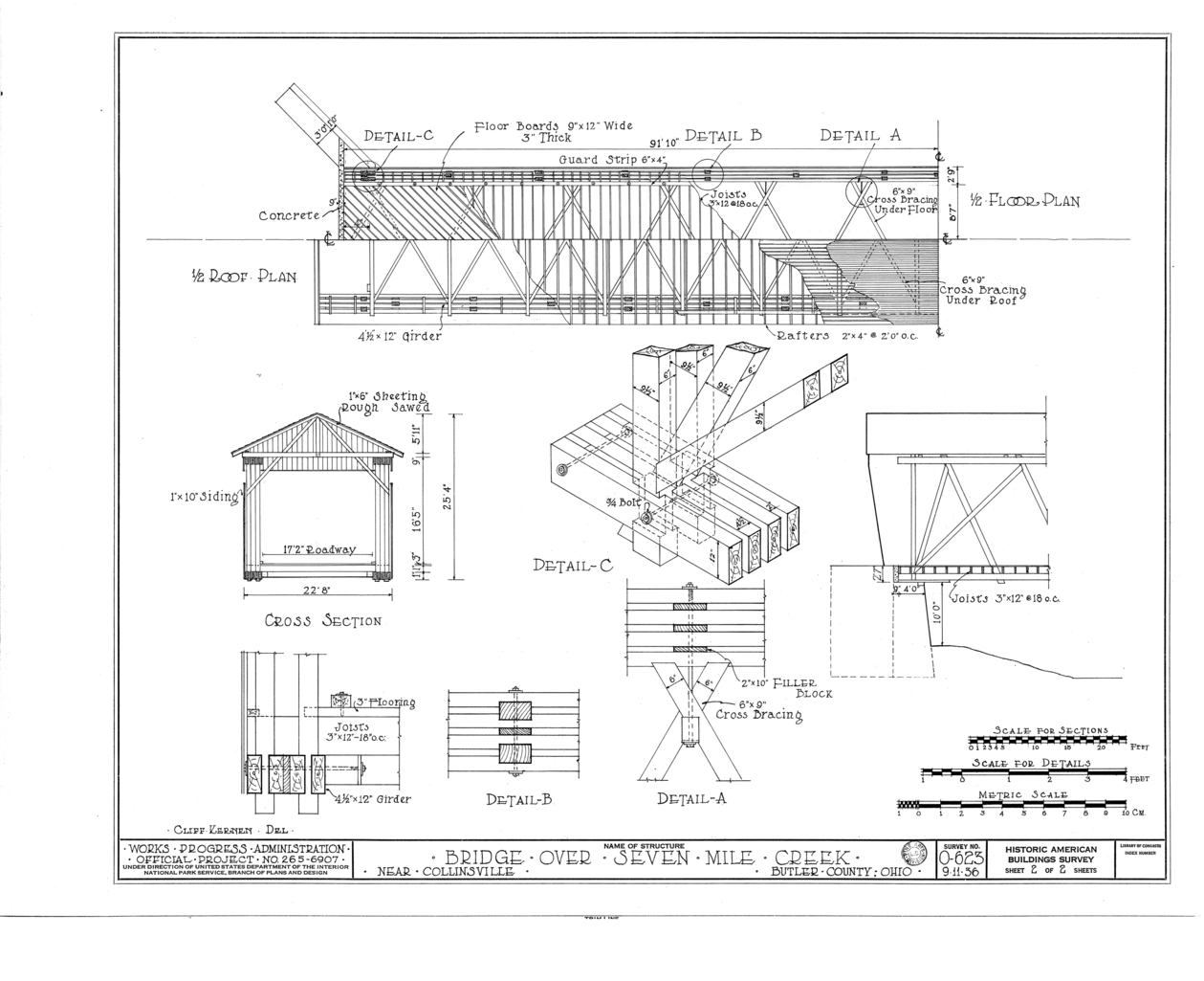 File 1 2 roof plan 1 2 floor plan cross section details for Mountain bridge floor plans