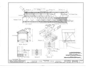 File 1 2 roof plan 1 2 floor plan cross section details for Covered bridge design plans