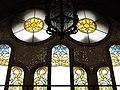 105 Hospital de Sant Pau, edifici d'Administració, vitrall de la sala d'actes.JPG