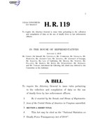 116th United States Congress H. R. 0000119 (1st session) - National Statistics on Deadly Force Transparency Act of 2019.pdf