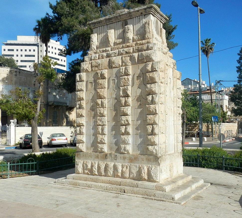 120917 Jerusalem surrender monument