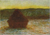 1284 Wheatstack (Thaw, Sunset), 1890-91, 66 x 93, 26 x 36 5-8 in. The Art Institute of Chicago.jpg