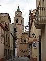 130 C. Pompeu Fabra i església de Sant Llorenç (Llorenç del Penedès).JPG