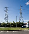132 KV pylons cheek by jowl - geograph.org.uk - 1502587.jpg