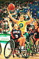 141100 - Wheelchair basketball Liesl Tesch rebounds - 3b - 2000 Sydney match photo.jpg