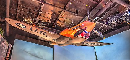 Restored P-40 on display at the National World War II Museum 16 26 076 WWII museum.jpg