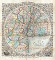 1853 Colton Map of New York and Vicinity (33 Miles Around) - Geographicus - NewYork33Miles-colton-1853.jpg