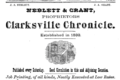 1876 Clarksville Chronicle advert Tennessee.png