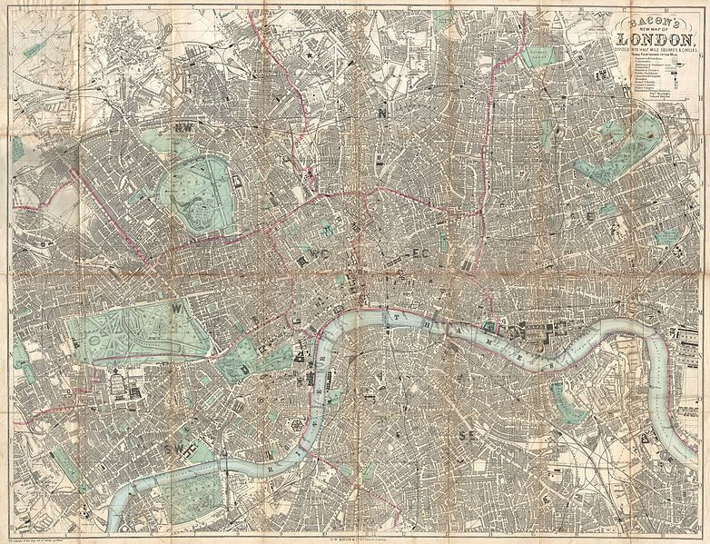File:1890 Bacon Traveler's Pocket Map of London, England - Geographicus - London-bacon-1890.jpg